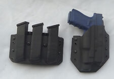 Glock 22/17 Triple Magazine Kydex Combo Set, Black, Coyote Brown  or OD Green