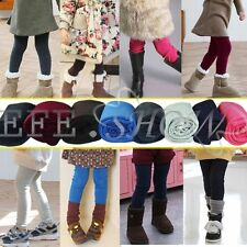Girls Toddlers Winter Warm Thick Leggings Fleece Lined Kids Trousers Slim Pants
