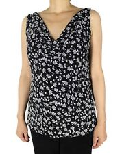 Floral Cowl Neck Tank Top Women Plus Size Slinky For Travel And Casual Wear