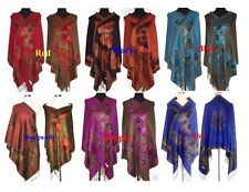 Women Pashmina/Silk Shawl/Scarf Wrap With Butterfly Multi-Color free shipping