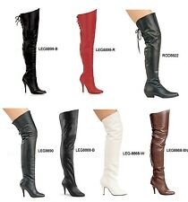 Pleaser LEGEND-8868 8890 8899 RODEO-8822 Sexy Leather Thigh High Boots