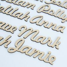 Script names, letters or words. Wooden 3.2mm thick High Quality MDF
