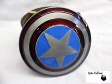 RED, GREY & BLUE CAPTAIN AMERICA SHIELD BUCKLE WITH FREE BELT *BRAND NEW*