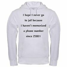 NEVER GO TO JAIL MEMORIZED PHONE NUMBER FUNNY CELL PHONES hoodie hoody