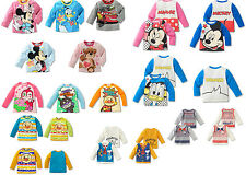 100%Cotton Cute Character Toy Boys Girls Baby Kids Long Sleeve T-Shirt/Shirt New