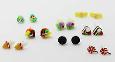Cakes Earrings Polymer Clay Cute Dessert Mini Food Children Anti allergy Stud