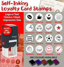 Self Inking Loyalty Card Rubber Stamps