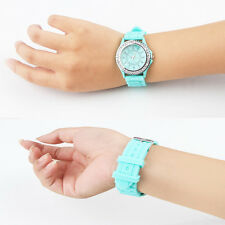 Fashion Crystal Jelly Gel Silicon Wristwatch Girl Women's Quartz Wrist Watch