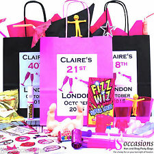 *CREATE YOUR OWN BIRTHDAY* PARTY GIFT BAGS FILL PERSONALISE ANY AGE FAVOUR IDEA
