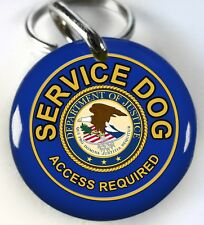 Service Dog ADA Department of Justice blue custom tag dog ID Tags ID4Pet