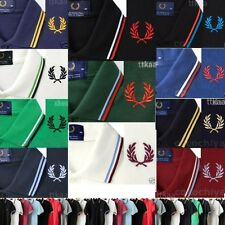 HOT New Slim Fit MADE IN ENGLAND M1200 M12 Cotton Twin Tipped Polo Shirt Vintage