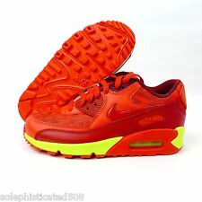 Nike Air Max 90 GS Gym Red Crimson Volt Ice Pack 307793 601 youth grade school