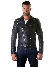 Giacca in di Vera Pelle Uomo Man Leather Jacket Veste Blouson Homme CHIODO