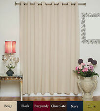 """RETURNED ITEM! Wide Antique Brass Grommet Top Blackout Curtain 100""""by84"""" Panel"""