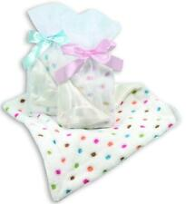 Stephan Baby Coral Fleece Blankie Pink Blue or Multi Polka Dots Security Blanket