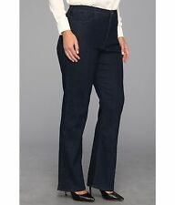 NEW NYDJ Not Your Daughters Jeans pants Marilyn Straight slim fit blue/black