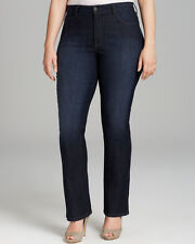 NEW NYDJ Not Your Daughters Jeans pants Marilyn Straight burbank embroidered