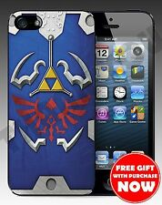 Zelda Hylian Shield Hard Case For Iphone 4 / 4s / 5 / 5s + Free Gift