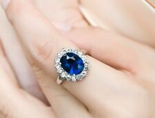 Size 6-9 Nice Ladys Jewelry White Gold Filled Sapphire Wedding Royal Ring