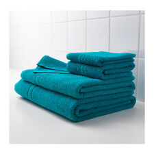 IKEA FRAJEN 100 % Cotton Towels Assorted Sizes Green/Blue Color Free shipping.