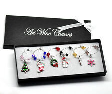 Wholesale lots Christmas Wine Glass Charms Table Decorations 50x25mm-57x25mm