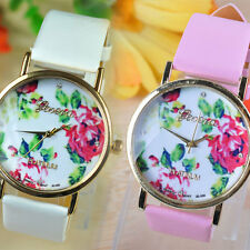 Fashion Rose Flower Watch Wristwatch For Women/Grils Dress Easy to Read Hot