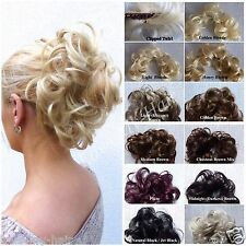 Lovely Soft Wire Clipped Twirl, Curly UPDO, Chignon, Quality Feel Real Hair