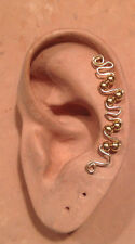 HANDMADE SS OR 14KGF WIRE WRAPPED EAR IVY MIDI FOR UPPER EAR CARTILAGE PIERCING