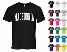 Country of Macedonia College Letters Font T-shirt