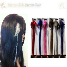 Grizzly Feather Clip in Hair Extensions bulk sale! 10pcs   6 Colours avaliable
