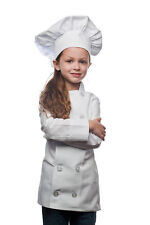Daystar 950SET Kids White Chef Coat and White Chef Hat Set - Made in USA!