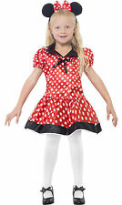 Cute Mouse Girls Kids Childs Childrens Minnie Mini Fancy Dress Costume Age 4-12