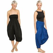 SILK LOOK 2 in 1 TROUSER and BANDEAU JUMPSUIT HAREM GENIE PANT