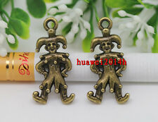 15/30pcs Tibetan Silver lovely two-sided 3D Magic clown Charms Pendant 24x12mm