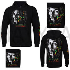 UNISEX HOODIE (BOB MARLEY)LEGEND OF RAGGAE  BOTH SIDE PRINT & ON SLEEVES