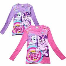 2014 My Little Pony Kids Boys Girls Funny Long Sleeve T-Shirt Clothing 3-8 Years