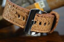 MA WATCH STRAP 22MM GENUINE SNAKE LEATHER PHYTON BAND F.OMEGA HANDMADE TABAC-MAT
