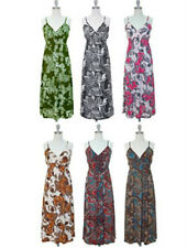 NWT Women V Neck Maxi Sleeveless Surplice Smocked Waist Dress Paisley Print S-L