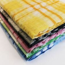 """SEERSUCKER COTTON CHECKED STYLE QUALITY NON IRON TABLE CLOTH COVERING 50"""" x 50"""""""
