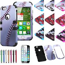 """For Apple iPhone 6 (4.7"""") TUFF Hybrid Impact Rubber Hard Matte Case Cover & Gift"""