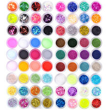 Nail Art 12/18/24 Colors Acrylic UV Gel Glitter Powder Beads Sheet Chip Lace Set