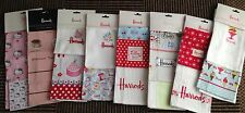 Harrods Tea Towel Double Pack - cakes-strawberries-ice cream-cafe + more BNWT