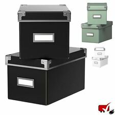 Kassett 2 Pack CD Size Storage Boxes 16x26x15cm Ikea