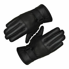 New Motorbike Motorcycle Black Winter Leather Gloves
