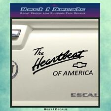 Chevy Heartbeat Of America Decal Sticker Truck Vehicle Jeep Motor American USA