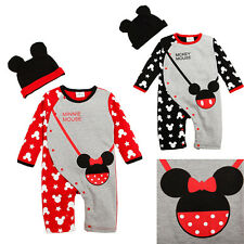 Mickey Minnie Baby Fleece Romper Newborn Boy Girl One-Pieces Jumpsuit Rompers
