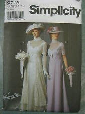 EDWARDIAN HISTORY BRIDAL GOWN DRESS COSTUME SEWING PATTERN 9716