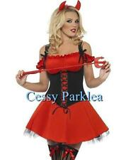 Women's Black and Red Devil Movie Character Fancy Dress Halloween Costume