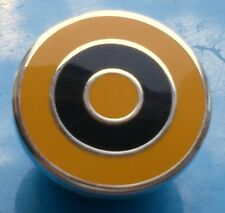 MOD TARGET BADGE - IN WOLVES WOLVERHAMPTON WANDERERS COLOURS  12MM 16MM 20MM DIA