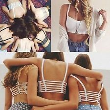 Fashion Sexy Women's Bralette Cage Caged Back Cut Out Padded Bra Bralet Crop Top